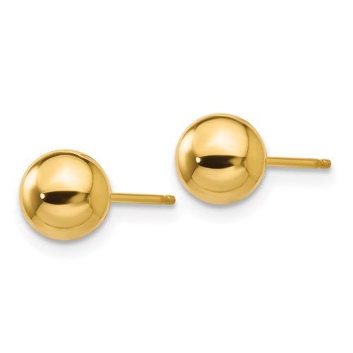 14kt Yellow Gold 6mm Ball Post Earrings