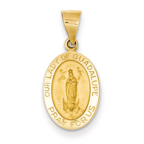 14kt 5/8in Our Lady Of Guadalupe Medal Charm