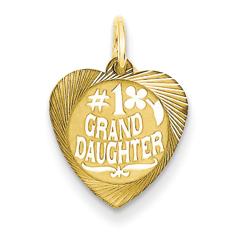 14kt Yellow Gold #1 Granddaughter Charm