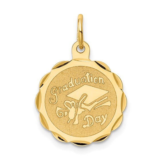 14kt Yellow Gold 5/8in Graduation Day Charm