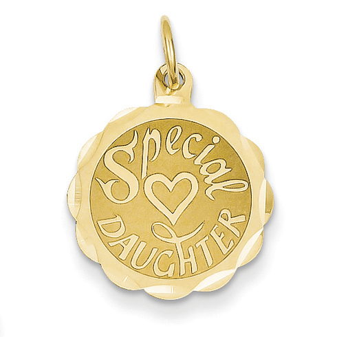 14kt Yellow Gold Special Daughter Charm