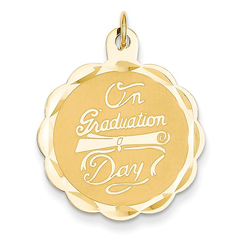 14kt Yellow Gold 7/8in On Graduation Day Diploma Charm