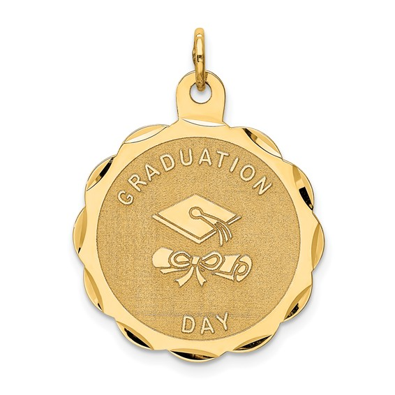 14kt Yellow Gold 7/8in Graduation Day with Diploma Charm