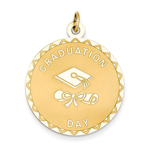 14kt Yellow Gold 1in Graduation Day Charm
