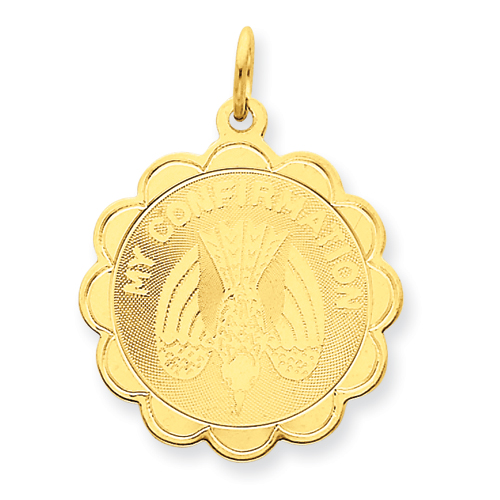 14kt 7/8in My Confirmation Disc Pendant