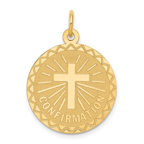 14kt 3/4in Confirmation Disc Charm