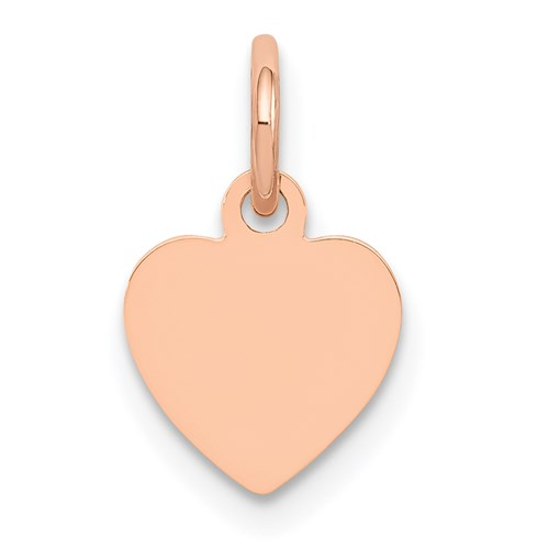 14kt Rose Gold 1/4in Flat Heart Charm