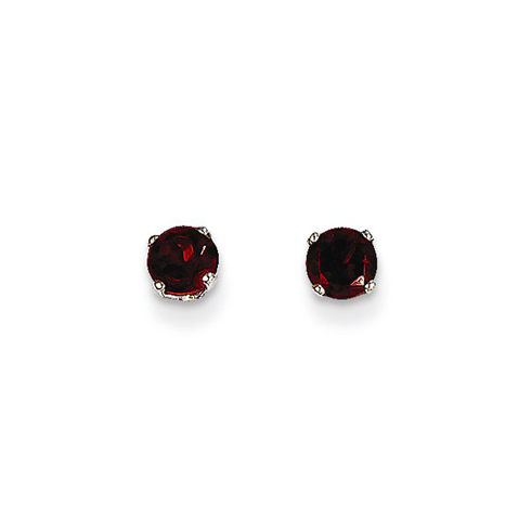 14kt White Gold 2/3 ct tw Garnet Stud Earrings