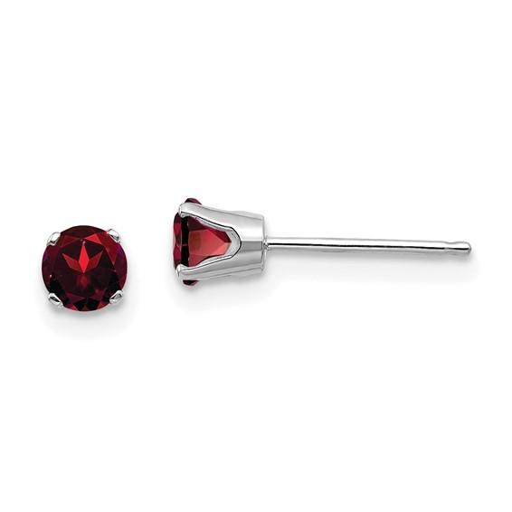 14kt White Gold 2/3 ct tw Garnet Stud Earrings
