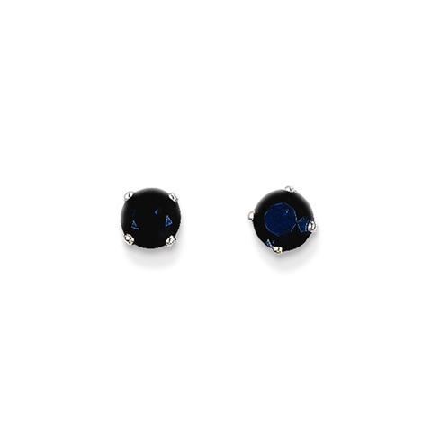 14kt White Gold 4mm Sapphire Stud Earrings