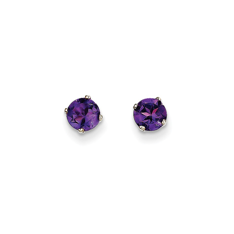 14kt White Gold 1 ct tw Amethyst Stud Earrings