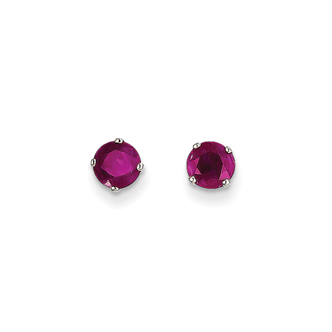14kt White Gold 1 1/4 ct tw Ruby Stud Earrings