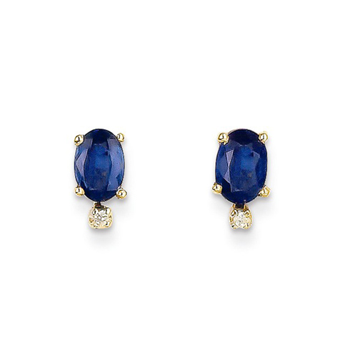 14kt White Gold 2/3 ct Oval Sapphire Leverback Earrings