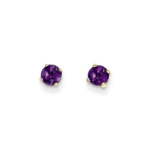 14kt Yellow Gold 2/5 ct tw Amethyst Stud Earrings