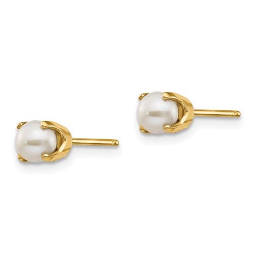 14kt Gold 4mm Freshwater Cultured Pearl Stud Earrings