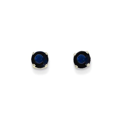 14kt Gold 4mm Sapphire Stud Earrings