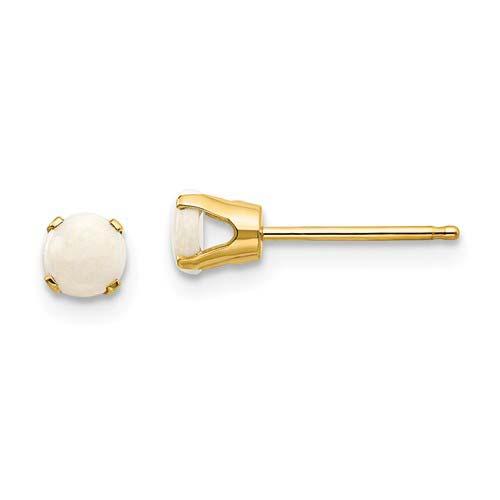 14kt Gold 4mm Opal Stud Earrings