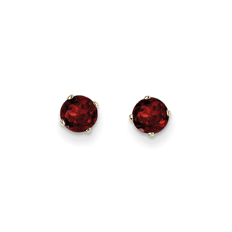 14kt Yellow Gold 1 2 Ct Garnet Stud Earrings Xbe61 Joy