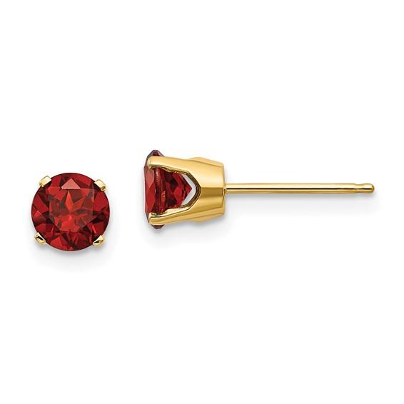 14kt Yellow Gold 1.2 ct Garnet Stud Earrings