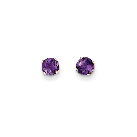 14kt Yellow Gold 1 ct tw Amethyst Stud Earrings