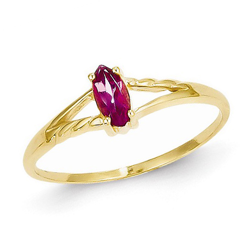 14kt Yellow Gold 1/4 ct Marquise Pink Tourmaline Ring