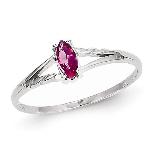 14kt White Gold 1/4 ct Marquise Pink Tourmaline Ring