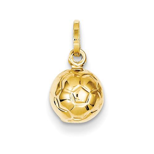 14kt Yellow Gold 3-D Mini Soccer Charm
