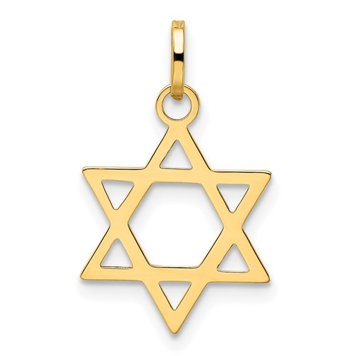14kt Yellow Gold 9/16in Star of David Charm