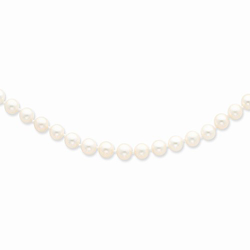 14kt Yellow Gold 6-7mm Freshwater Cultured Pearl 16in Strand Necklace