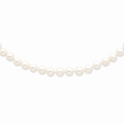 14kt Yellow Gold 9-10mm Freshwater Cultured Pearl 18in Strand Necklace