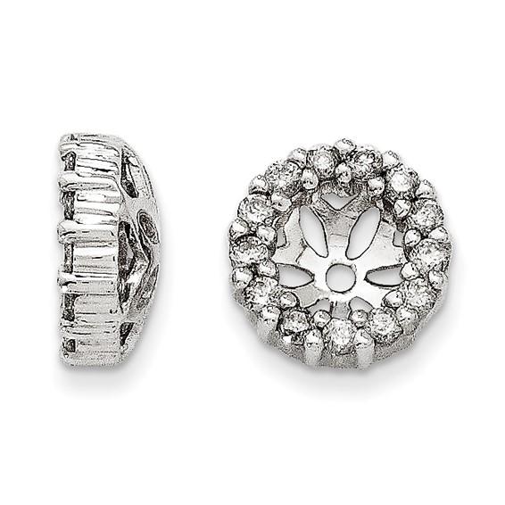 14kt White Gold Fancy 1/4 ct Diamond Earring Jackets
