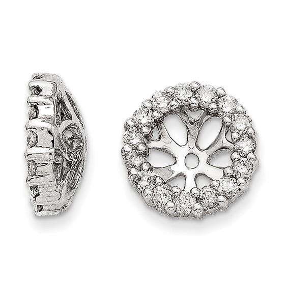 14kt White Gold Fancy 3/8 ct Diamond Earring Jackets