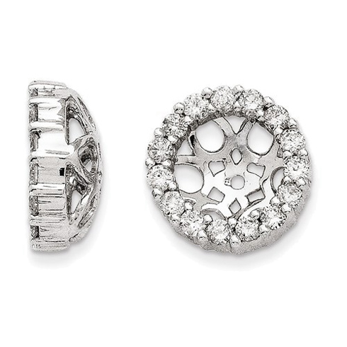 14kt White Gold Fancy 1/2 ct Diamond Earring Jackets