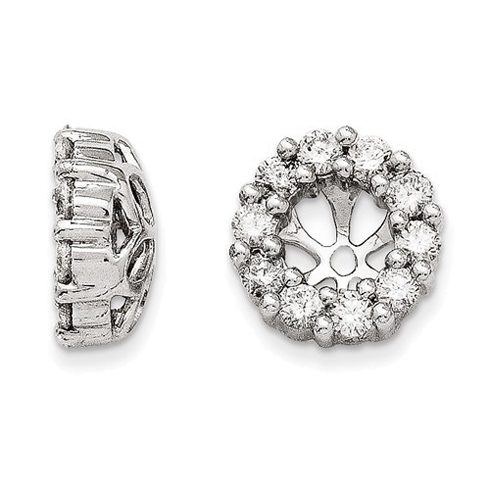 14kt White Gold 5/8 ct Diamond Earring Jackets