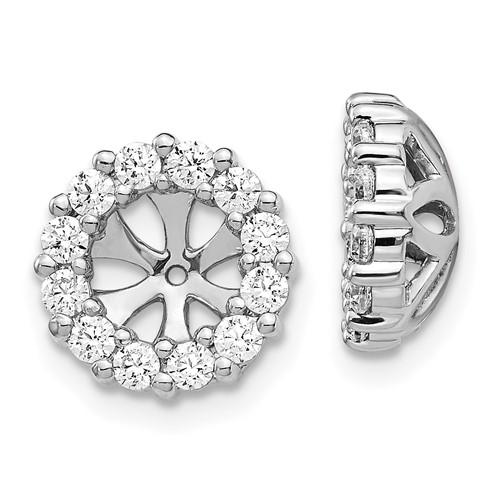 14kt White Gold 3/4 ct Diamond Earring Jackets