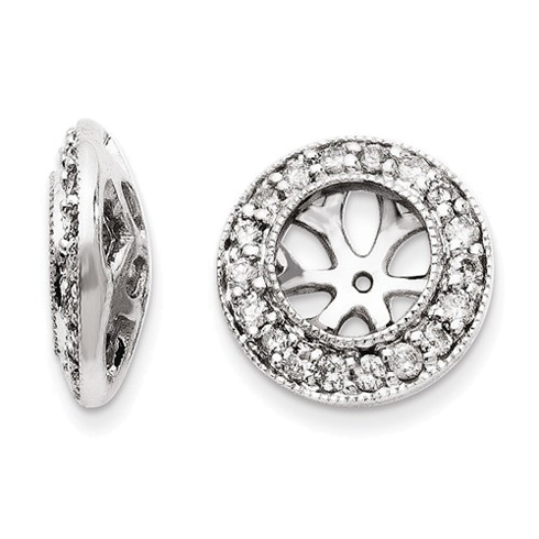 14kt White Gold 1/3 ct Diamond Earring Jackets