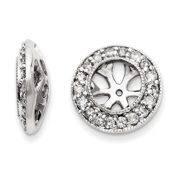 14kt White Gold 1/3 ct Diamond Earring Jackets