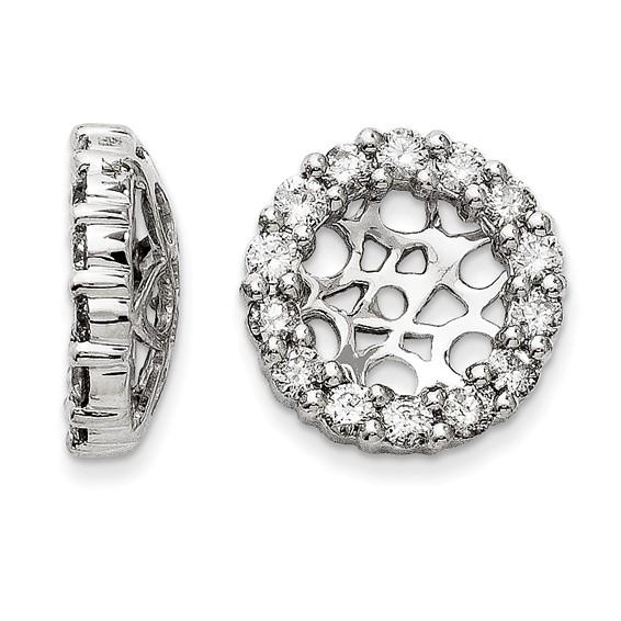 14kt White Gold Fancy 1 ct Diamond Earring Jackets
