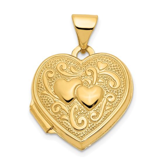 14kt Yellow Gold 15mm Heart Locket