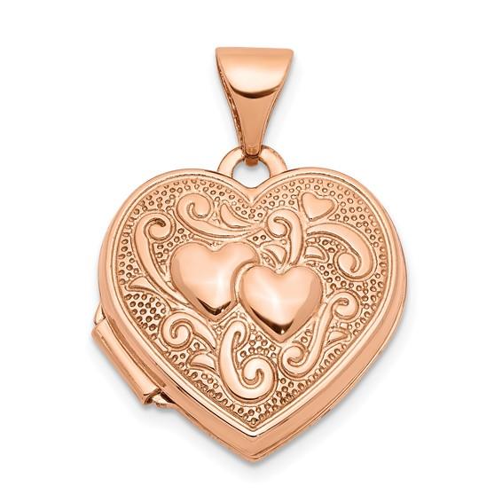 14kt Rose Gold 15mm Heart Locket