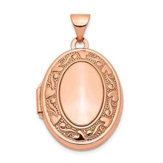 14kt Rose Gold 21mm Oval Locket