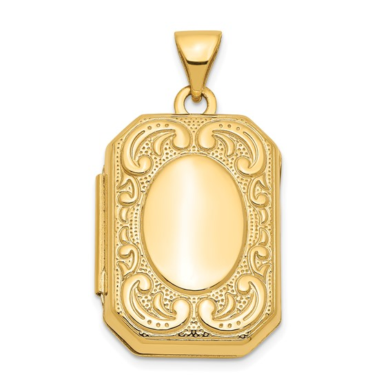14kt Yellow Gold 7/8in Rectangle Locket
