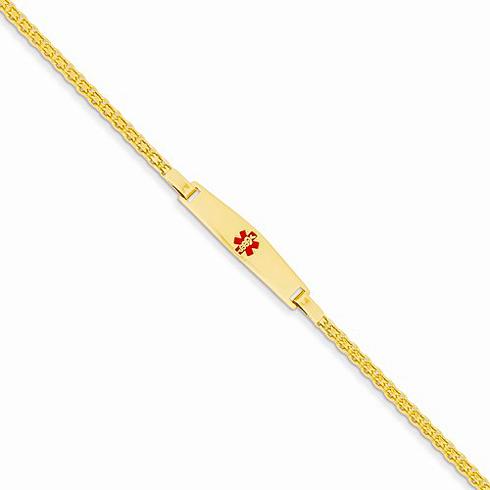 14kt Yellow Gold 6in Children's Medical ID Bracelet
