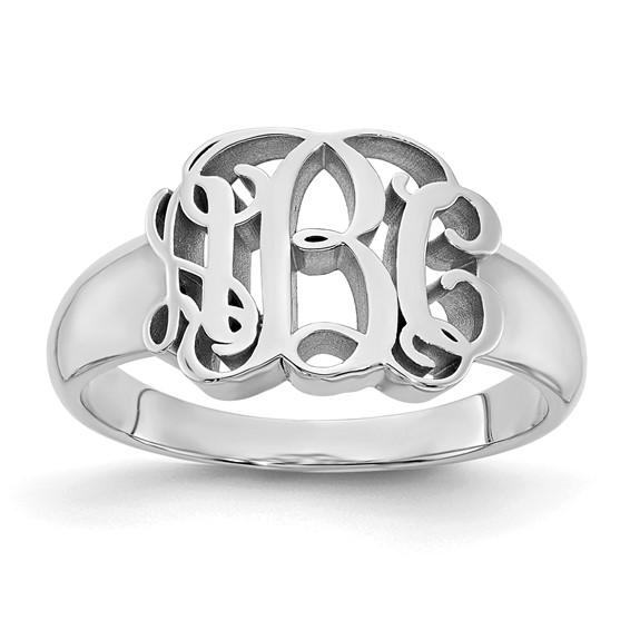 Sterling Silver Interlocking Monogram Ring