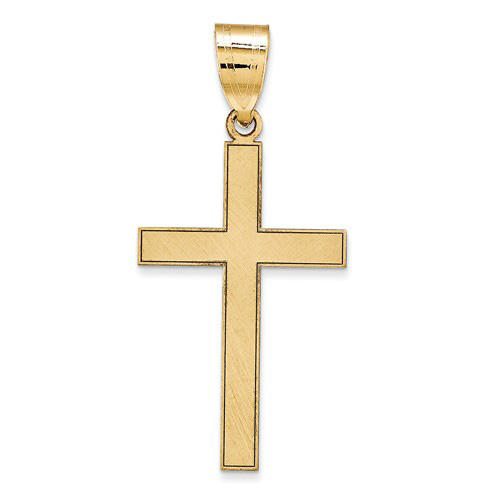 14kt 11/16in Polished Cross Pendant