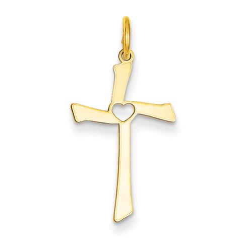 14kt 7/8in Laser Designed Cross Charm