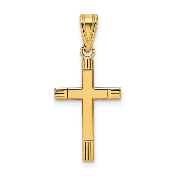 14kt 3/4in Cross Pendant