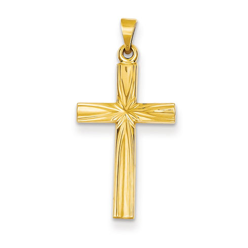14kt 7/8in Polished Latin Cross Pendant