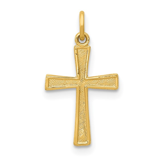 14kt Yellow Gold 1/2in Cross Charm