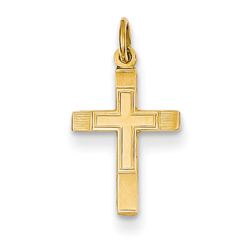 14kt Yellow Gold Small 1/2in Cross Charm